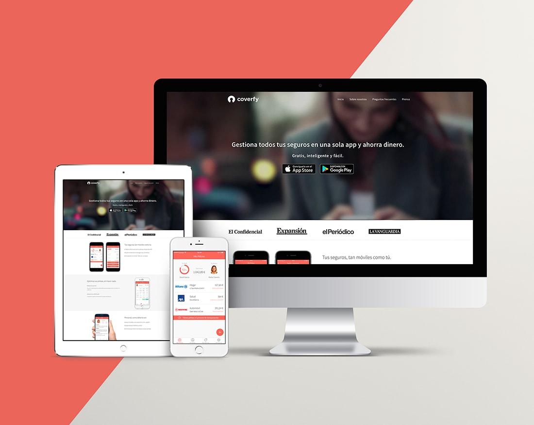 Estudio de diseño gráfico, seguros, app, web