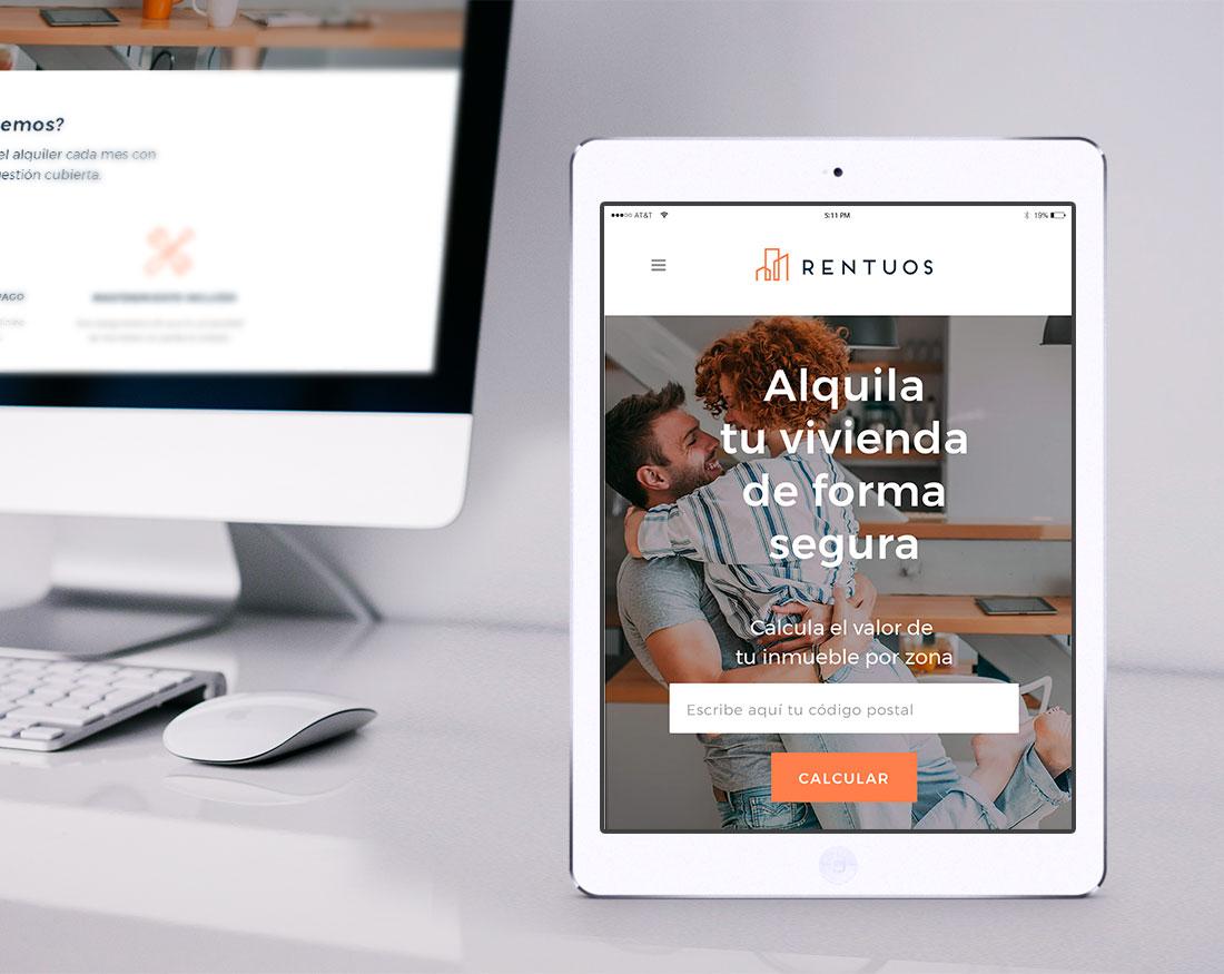 Branding y diseño web Rentuos